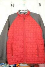 Mens Duluth Trading Co Thinsulate Jacket Coat 2XL Tall Nylon Insulated Red Gray