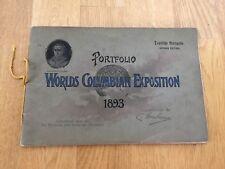 Worlds Columbian Exposition 1893 Worlds Fair Antique Book Chicago German Edition
