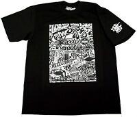 STREETWISE STICKER BOMB T-shirt Urban Streetwear Tee Adult Men L-4XL Black NWT