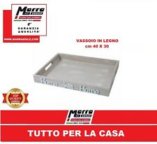 VASSOIO 40x30x5 PORTA COLAZIONE LEGNO CON MANICI HOME SWEET HOME SHABBY CUCINA