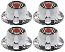 4 NEW Chrome Wheel Hub Center Caps Set Red for 1980-1996 Ford F150 Bronco Van
