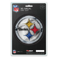 New NFL Pittsburgh Steelers 3-D Die-Cut Premium Vinyl Decal / Emblem / Sticker