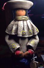 Amazing Vintage Peasant Woman Statue Figurine Ecuador Handmade Signed Dianto (?)