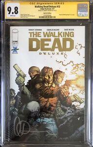 Walking Dead Deluxe #13 Gold Foil DUK Variant CGC 9.8 Signed By Charlie Adlard