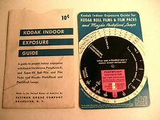 1940's Kodak Indoor Exposure Guide with envelope