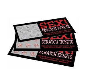 Lucky Sex Scratch Tickets Every Ticket is a Winner Novelty Sex Card Game