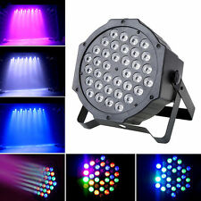 72W 36 LED RGB Stage Lights Flat Par Lamp for Club DJ Disco Party DMX512 Control