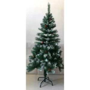 Snow Tipped Indoor 180cm Christmas Tree with Berries & Cones 497 Tips Xmas NEW