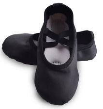 Black Toddler/Girl/Lady's PU Split Sole Ballet Dance Shoes Fitness Shoes
