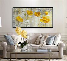 VV35# Modern art deco Hand-painted Flower oil painting Color art No Frame 48in
