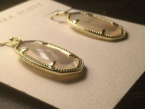 nwt KENDRA SCOTT Dani 14k Gold Plate  Drop EARRINGS in Ivory Pearl $65