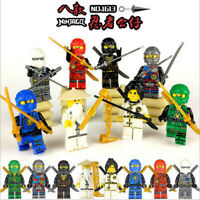 8Pcs New Minifigure Figures with Assemble toy Weapons toys US STOCK Gift