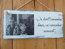 Personalise Photo Shabby Chic Plaque. Customise Your Own!