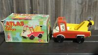 VINTAGE MARX TOYS ATLAS PLAY RECOVERY TOW TRUCK BOXED 2407 CLASSIC TINPLATE TOY
