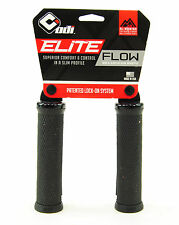 ODI Elite Flow Lock On V2.1 ATB Grips BMX MTB Hybrid Bike Black 130mm