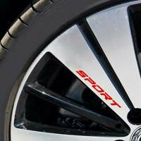 4pcs Creative Racing SPORT Car Window Rims Wheel Reflective Vinyl Decal Sticker