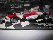 MINICHAMPS 1.43 F1 PANASONIC TOYOTA RACING PRESENTATION 2003 C DA MATTA  AWESOME