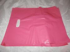 "100 12""x15"" Pink Glossy Low-Density Plastic Merchandise Bags Wholesale lot Bags"