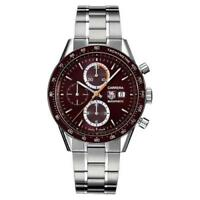 07a329355b7 CHECK THIS OUT TAG HEUER CARRERA CV2013.BA0786 CHRONO AUTO STEEL BROWN WATCH