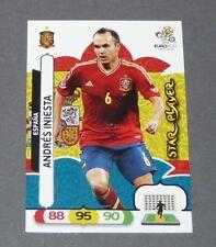 INIESTA STAR PLAYER ROJA ESPAGNE ESPAÑA FOOTBALL CARD PANINI UEFA EURO 2012
