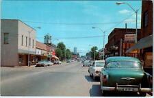 CROSSVILLE, Tennessee  TN     MAIN STREET Scene  ca 1950s-60s Cars    Postcard