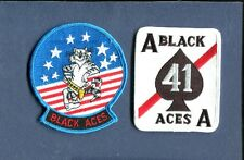 VF-41 BLACK ACES US NAVY GRUMMAN F-14 TOMCAT Fighter Squadron Jacket Patch Set