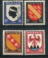 FRANCE 1946 YT n° 755 à 758 neufs ★★ luxe / MNH