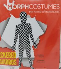 Checkered Morphsuit Original Morph Suit Second Skin Costume Boy Size M 8-10 New
