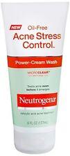 Neutrogena Acne Stress Control Oil-Free Power-Cream Wash 6 oz (Pack of 4)