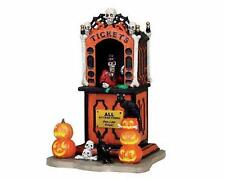 SPOOKY TOWN Lemax HALLOWEEN VILLAGE Carnival Ride TICKET BOOTH Taker NIB Retired