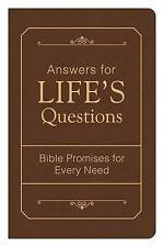 Answers for Life's Questions: Bible Promises for Every Need by Compiled by Barbour Staff (Paperback / softback, 2015)