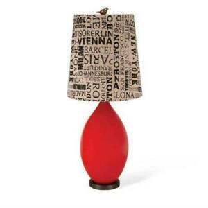 Foreside Home Classic Red Table Lamp