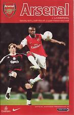 Football Programme - Premiership - Arsenal vs Liverpool 5/4/2008