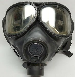 US Military full face Gas Mask with quick off Butyl hood too Garage Sale Pick