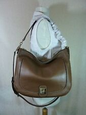NWT Furla Glace Wood Brown Pebbled Leather Jo Hobo Bag $448