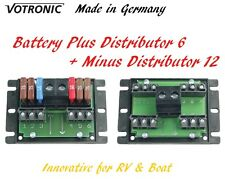 Votronic Fuse Block Circuit Plus Distributor 6 and Minus Distributor 12