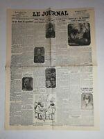 N1025 La Une Du Journal Le journal 24 août 1926 l'homme qui a tué romanetti