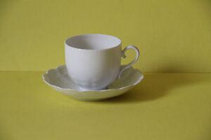 Kaiser Porzellan Romantica Weiß Espressotasse mit Untertasse Tasse Untere