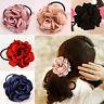 Women Hair Band Rope Elastic Rose Flower Ponytail Holder Scrunchie
