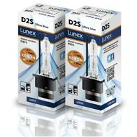2 x D2S Genuine LUNEX XENON BULBS REPLACEMENT FOR PHILIPS , GE OR OSRAM  - 6000K