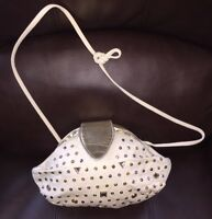 Paris Handbag New York Vintage Ivory Gold Rhinestones Purse Bag Handbag