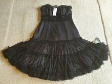 Debut Red Carpet NEW Black Evening Dress. Hand Embellished Size 12  RRP £140