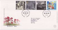 GB ROYAL MAIL FDC FIRST DAY COVER 1999 SOLDIERS' TALE STAMP SET BUREAU PMK