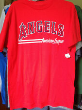 Los Angeles Angels MLB Team Name Spell-out Shirt Medium Red