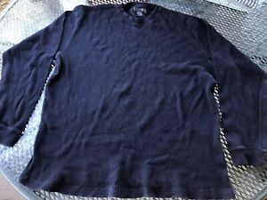 Champs Sports Mens Large Long Sleeve T-Shirt Navy Blue