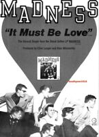 """1982 """"Madness"""" It Must Be Love  Song Release Promo Trade Reprint Advertisement"""