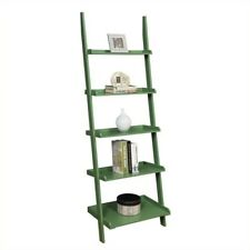 Convenience Concepts French Country Bookshelf Ladder Green 8043391GN