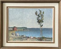 Impressionist Gustav Magnusson (1890-1957) House at sea - Oil Painting