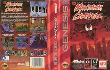 Sega Genesis Spider-Man & Venom Maximum Carnage 1994 tested box cartridge manual
