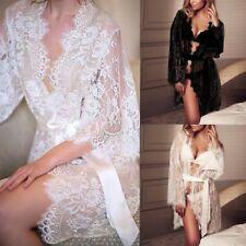 Sleepwear Belt G-string Sexy Robe Dress Lace Floral Babydoll Nightwear